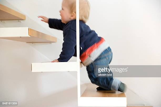 little child on the stairs