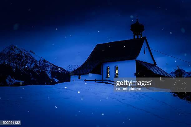 little church in bavarian alps