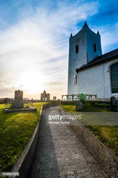 Little church with cemetery, Ballycastle, Northern Ireland, United Kingdom