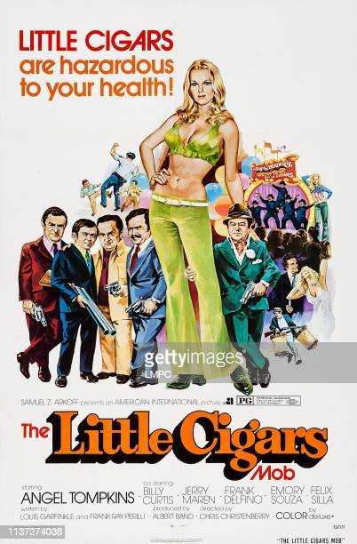 Little Cigars poster US poster art from left Frank Delfino Jerry Maren Emory Souza Felix Silla Angel Tompkins Billy Curtis 1973