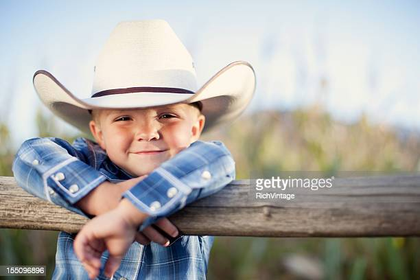 little cowboy - cowboy hat stock pictures, royalty-free photos & images