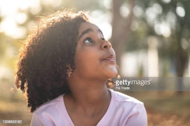 Little Cute Girl Dreaming