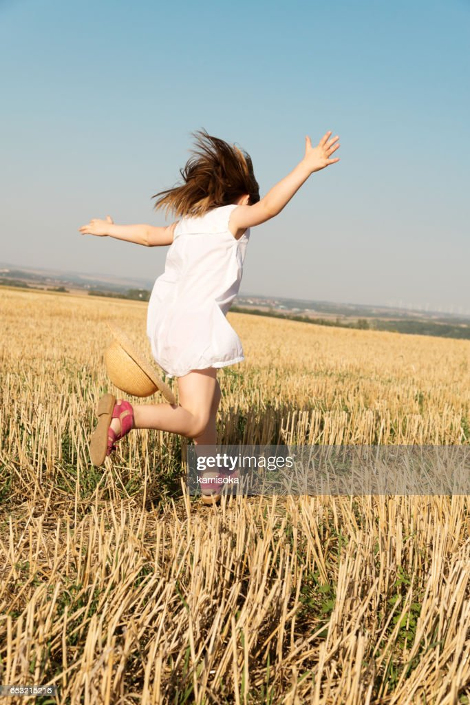 Little dancing girl : Stock Photo