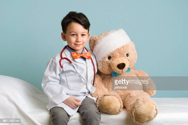 little doctor - fancy dress costume stock pictures, royalty-free photos & images