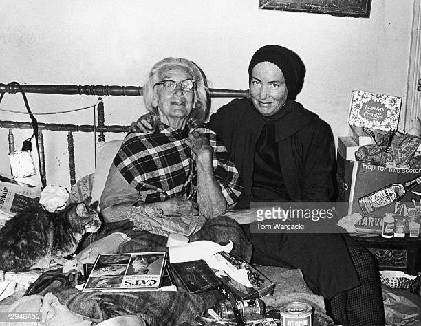 'Little' Edith Bouvier Beale a cousin of Jacqueline Kennedy Onassis at home with her mother 'Big Edie' in Grey Gardens a rundown mansion in East...