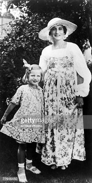 'Little' Edith Bouvier Beale a cousin of Jacqueline Kennedy Onassis with her mother 'Big Edie' 1922
