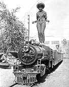 Little eva poses on a miniature train for her album cover session on picture id151884607?s=170x170