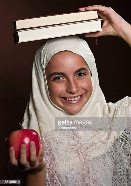 Little female middle eastern student