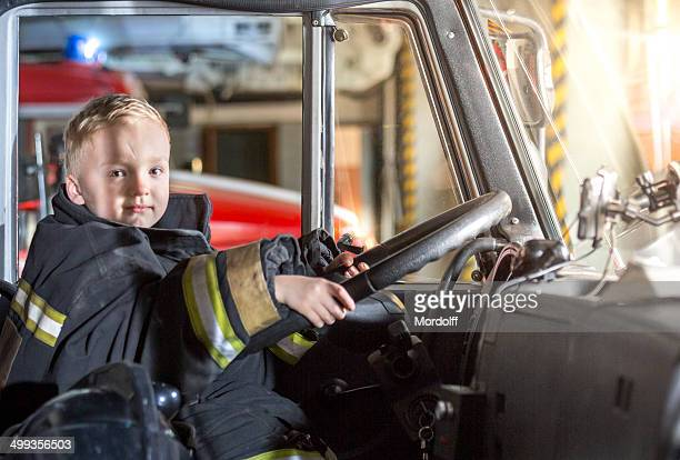 Little firefighter driving