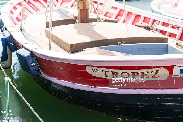 little fishing boat in saint-tropez - st tropez stock pictures, royalty-free photos & images
