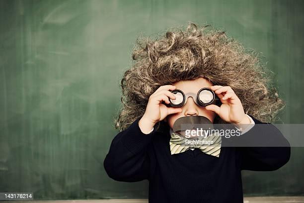 piccolo genio - saggezza foto e immagini stock