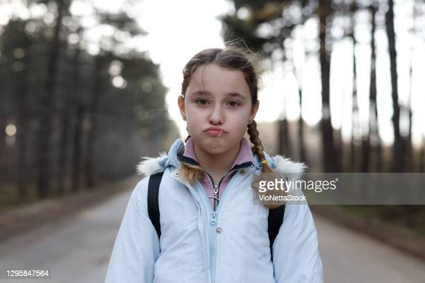 little girl 10-14 years in nature in sunny day - stock photo - 10 11 years stock pictures, royalty-free photos & images