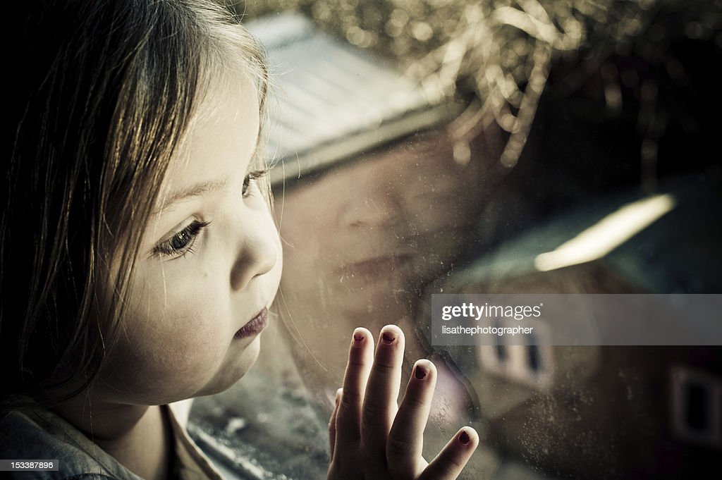 Little girl all alone : Stock Photo