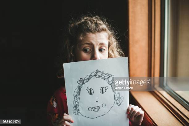 Little girl and a self portrait