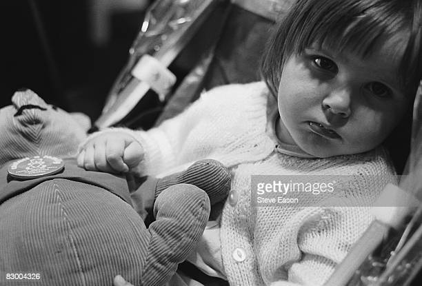 A little girl at a centre for handicapped children and their parents in Herefordshire 1987