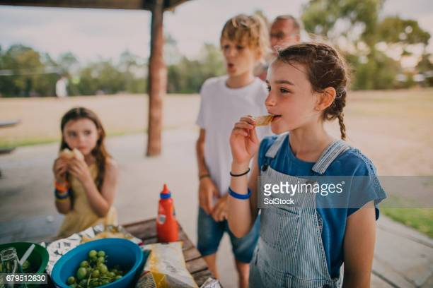 Little Girl at a Family BBQ