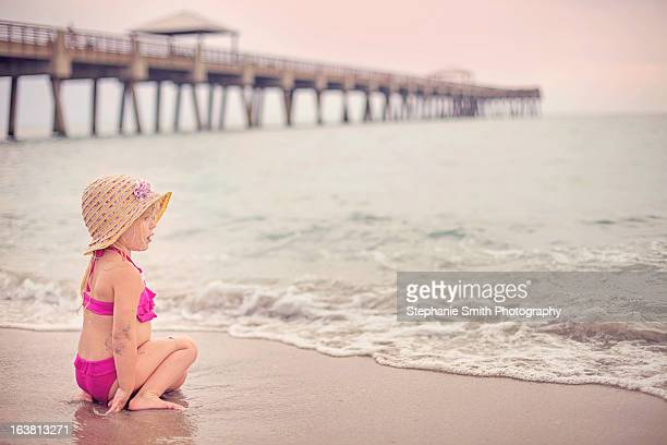 Little Girl at Ocean Pier