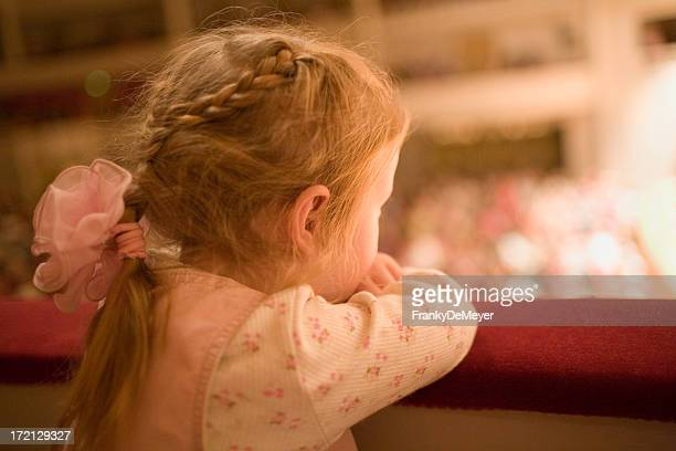 Little girl at the theater