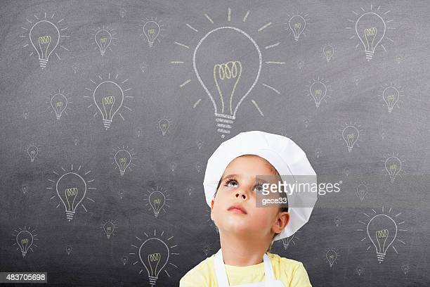 Little Girl Chef have a good idea on Chalkboard