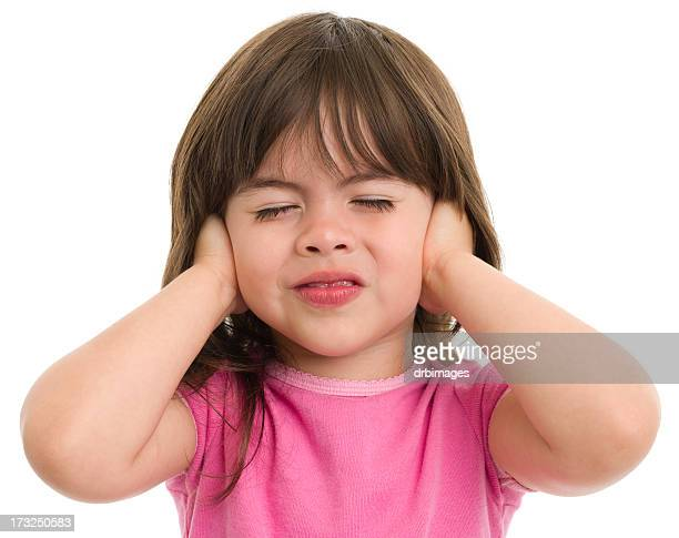 Little Girl Covers Ears