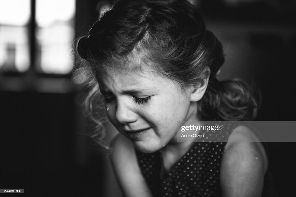 Little Girl Crying : Stock Photo