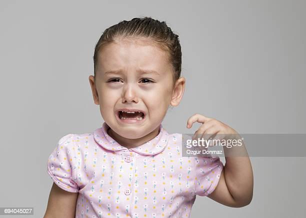 Little girl crying portrait