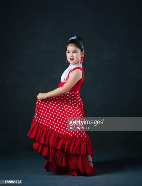 little girl dancing flamenco - arte, cultura e espetáculo imagens e fotografias de stock
