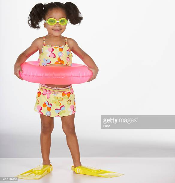 Little Girl Dressed for the Beach