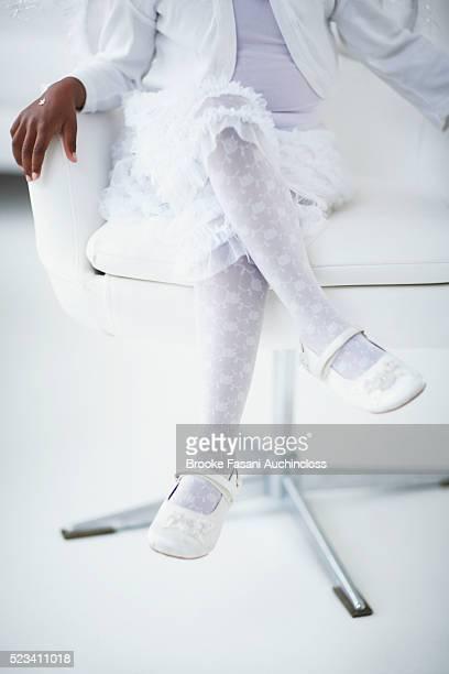 Little Girl Dressed in White