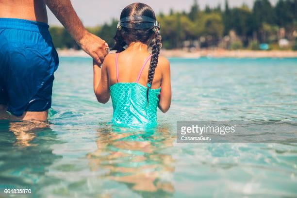 Little Girl Enjoy Swimming Under Water