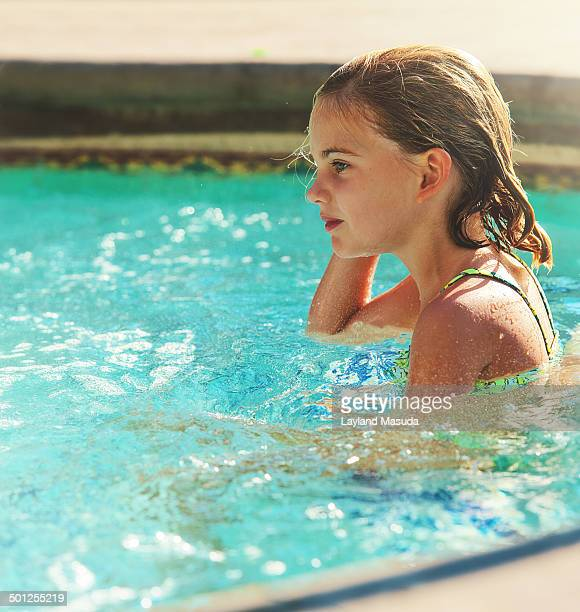 Little Girl Enjoying A hot tub