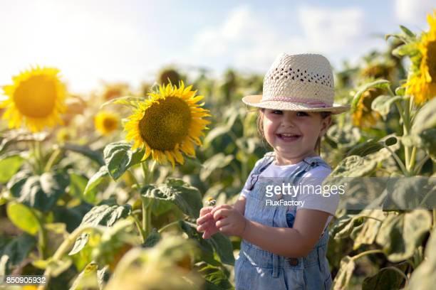 Little girl enjoying