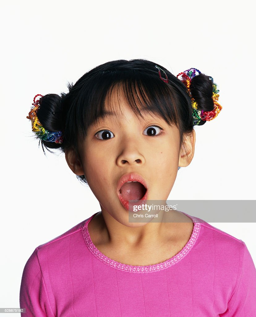 Little Girl Expressing Surprise : Stock Photo