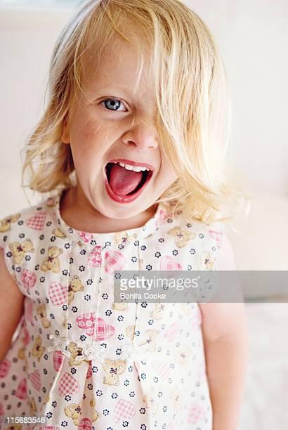 Little girl fun and loud