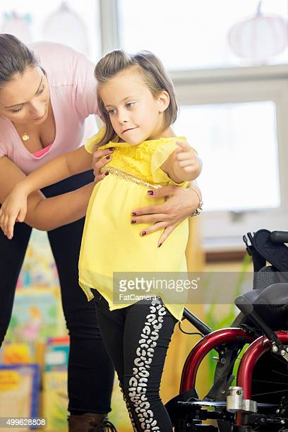 Little Girl Getting Physical Therapy