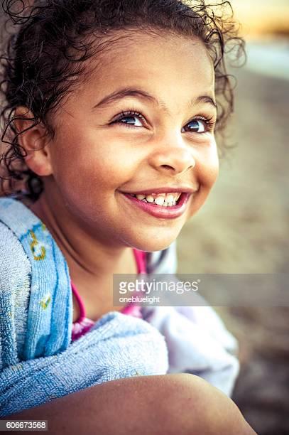 Little Girl (4-5) Having A Laugh.