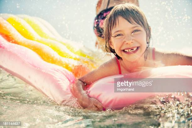 Little girl having fun in sea