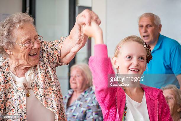 Little Girl Having Fun with her Grandmother