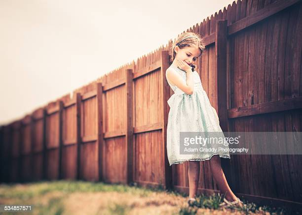 Little girl in a Blue Easter Dress