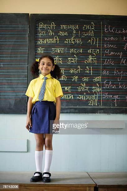 Little Girl in a Classroom