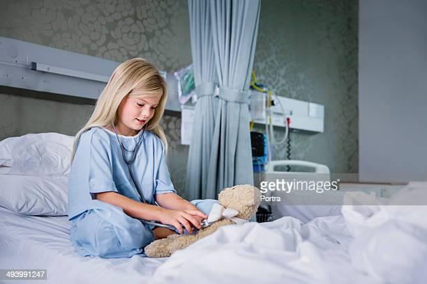 Little girl in a hospital.