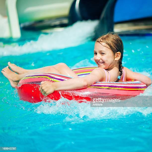 Little girl in aquapark