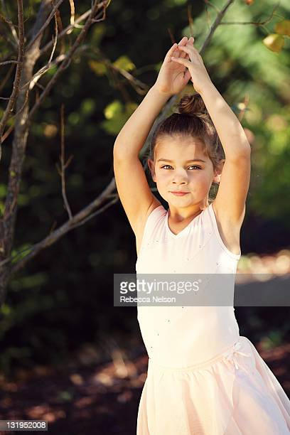 little girl in ballerina - rebecca nelson stock pictures, royalty-free photos & images