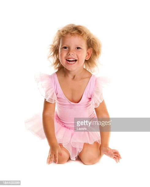 Little girl in ballet suit