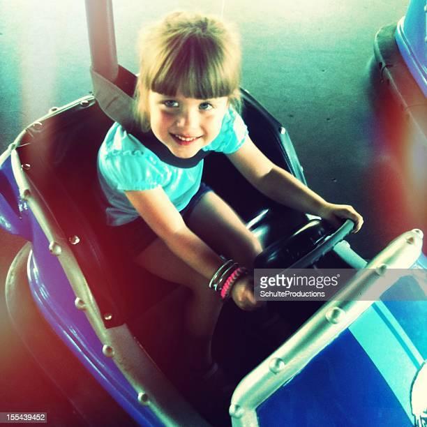 Little Girl in Bumper Car