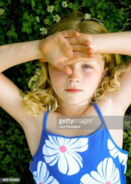 Little Girl in Clover