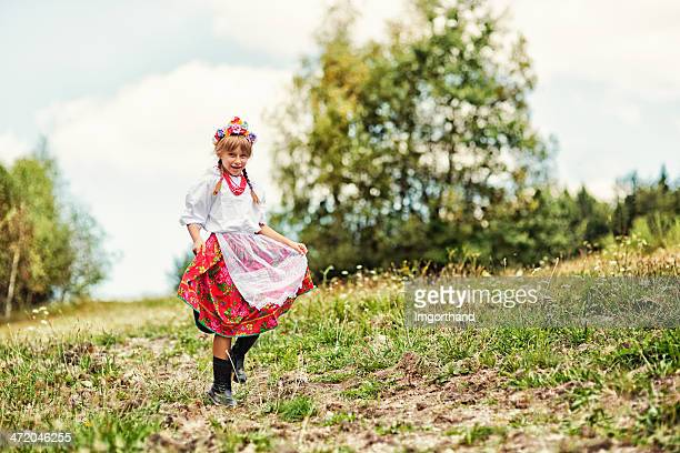 Little girl in folk costume (Krakowianka)