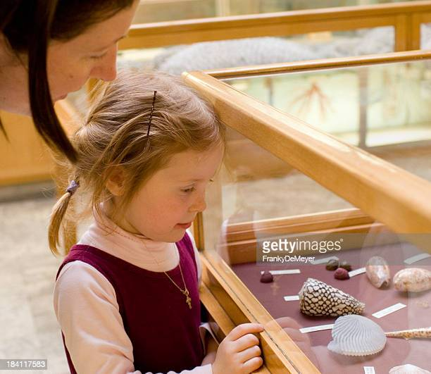 Little girl in museum