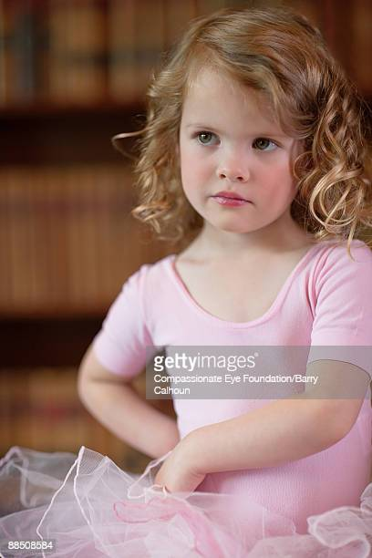 "little girl in pink tutu, portrait - ""compassionate eye"" stock pictures, royalty-free photos & images"