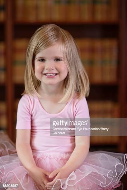 "little girl in pink tutu, portrait - ""compassionate eye"" imagens e fotografias de stock"